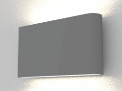 Surface-mounted wall-mounted LED light (DL18400 21WW-Black Dim)