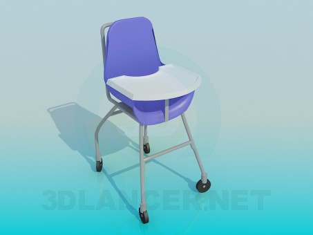3d modeling Children's chair model free download