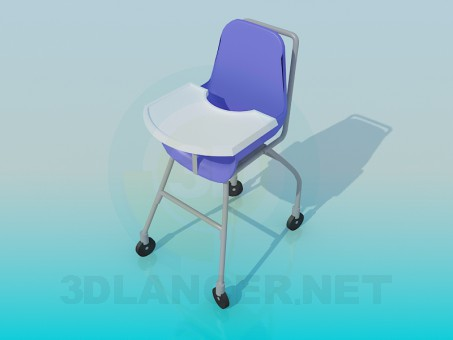 3d model Children's chair - preview