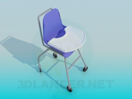 modelo 3D Silla para niños - escuchar