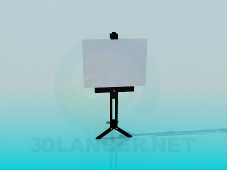 3d модель Підставка для плаката – превью