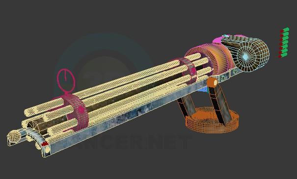 modelo 3D Gatler - escuchar