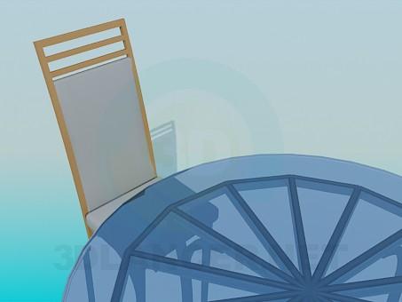 3d модель Стол и стулья – превью