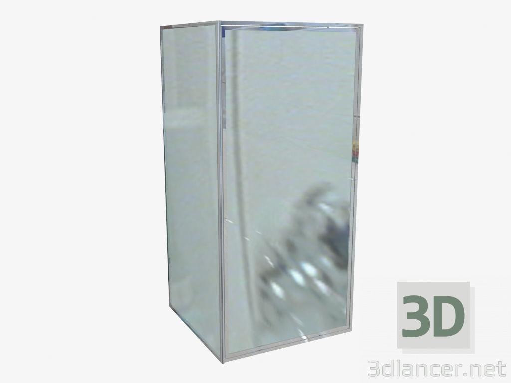 3d модель Двері для ніші орні 80 cm, Скло графітове Flex (KTL 412D) – превью