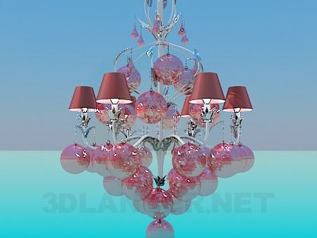 3d model Chandelier-holiday balls - preview