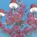 3d модель Люстра - праздничные шарики – превью