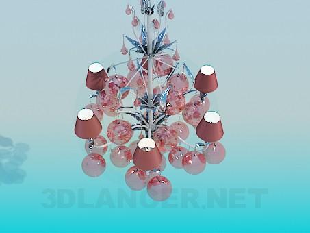3d модель Люстра - святкові кульки – превью