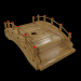 3d Wooden dishes for sushi model buy - render