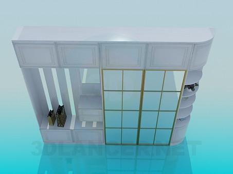 descarga gratuita de 3D modelado modelo Armario de salón