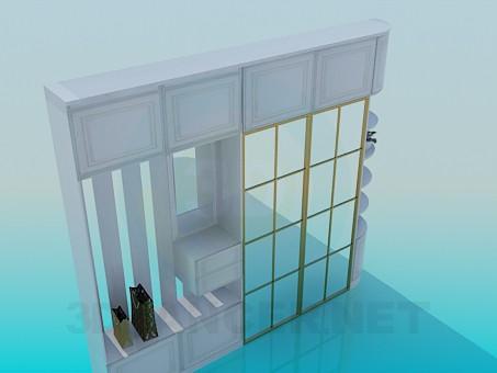 3d модель Шкаф для прихожей – превью