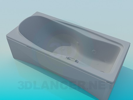3d model Rectangular tub - preview