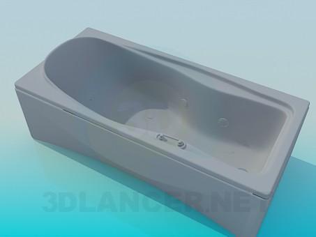 modelo 3D Bañera rectangular - escuchar