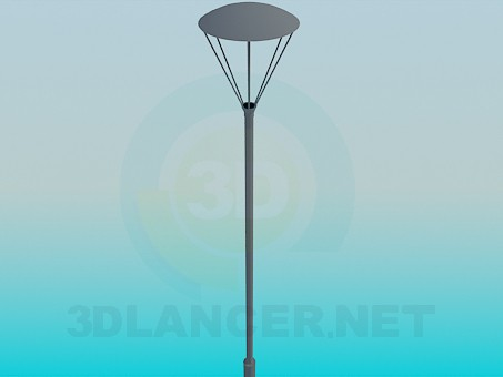 3d модель Ліхтарний стовп – превью