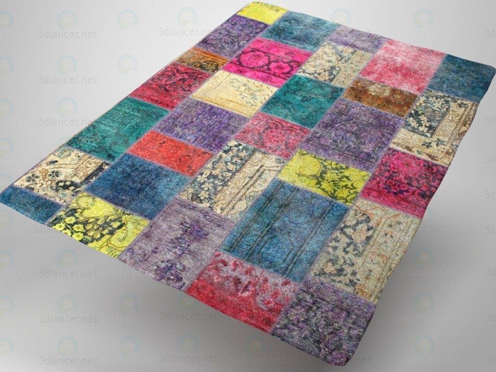 3d model Patchwork carpet - preview