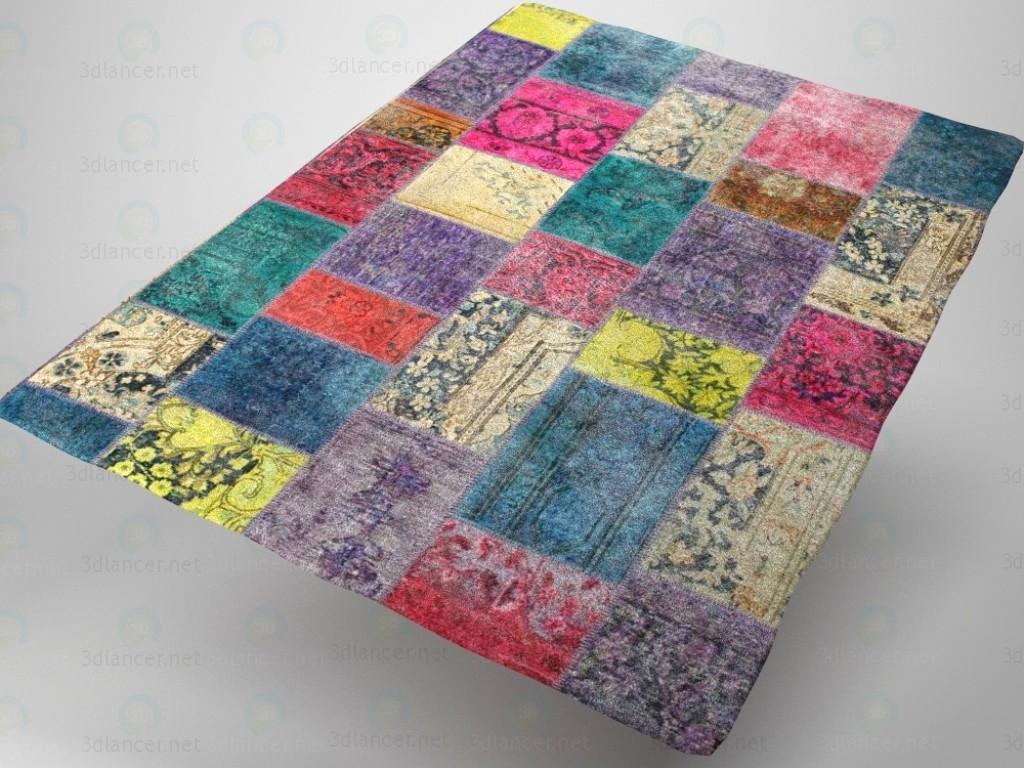3d модель Лоскутный ковёр – превью