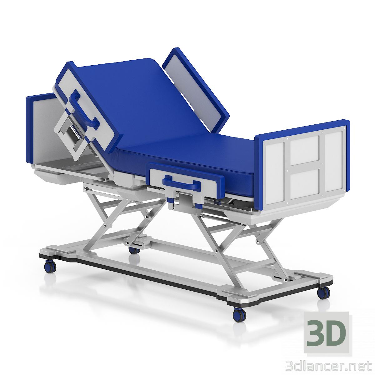 3d моделирование больничная кровать модель скачать бесплатно