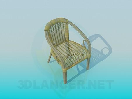 3d модель Плетений стілець-крісло – превью