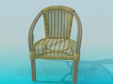 3d модель Плетеный стул-кресло – превью
