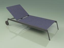 Chaise lounge 007 (Metal Smoke, Batyline Blue)