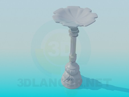 3d model Gypsum base on the stem - preview