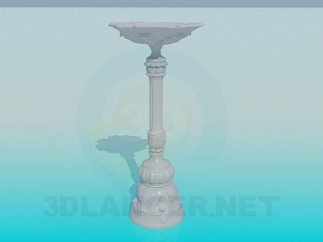 modelo 3D Yeso base sobre el tallo - escuchar