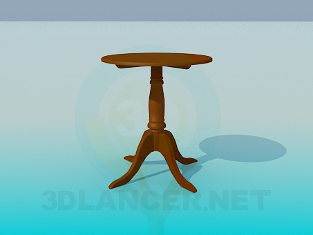 3d modeling Tea table model free download