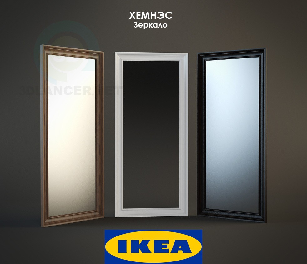 3d model IKEA mirror - preview