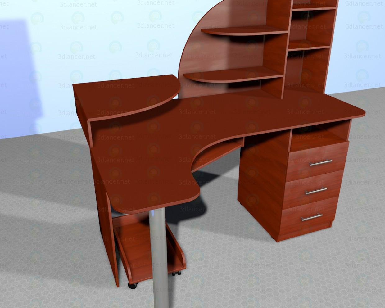 3d модель Стол компьютерный СКУ-3 – превью