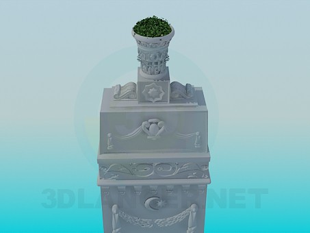3d model Monument with the pots - preview