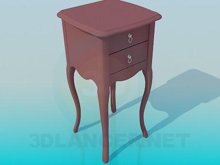 3d модель Тумба-столик – превью