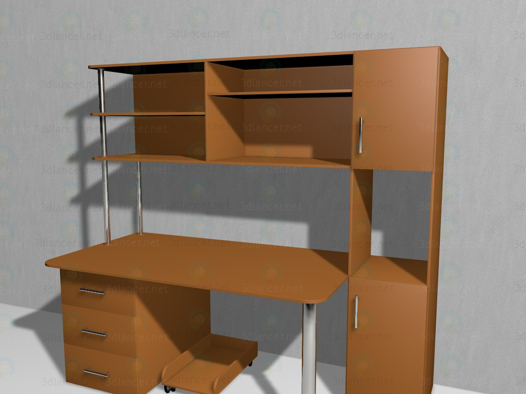 3d model Computer table SPK-9 - preview
