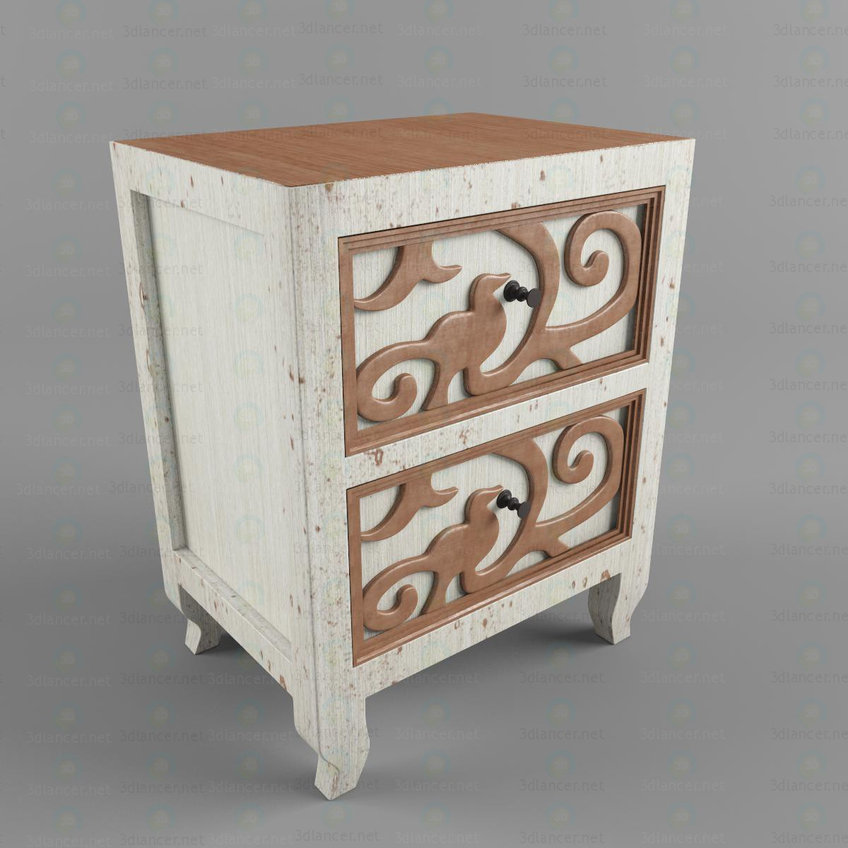 3d modeling Chest of drowers model free download