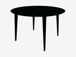 Tavolo da pranzo rotondo (frassino tinto nero D120)