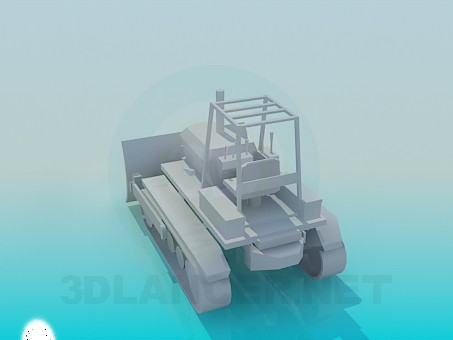 3d model Tractor snow plow - preview