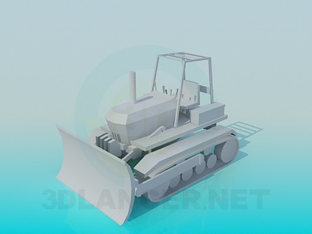 modelo 3D Arado de nieve del tractor - escuchar