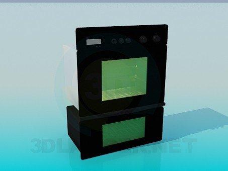 3d model Double oven - preview