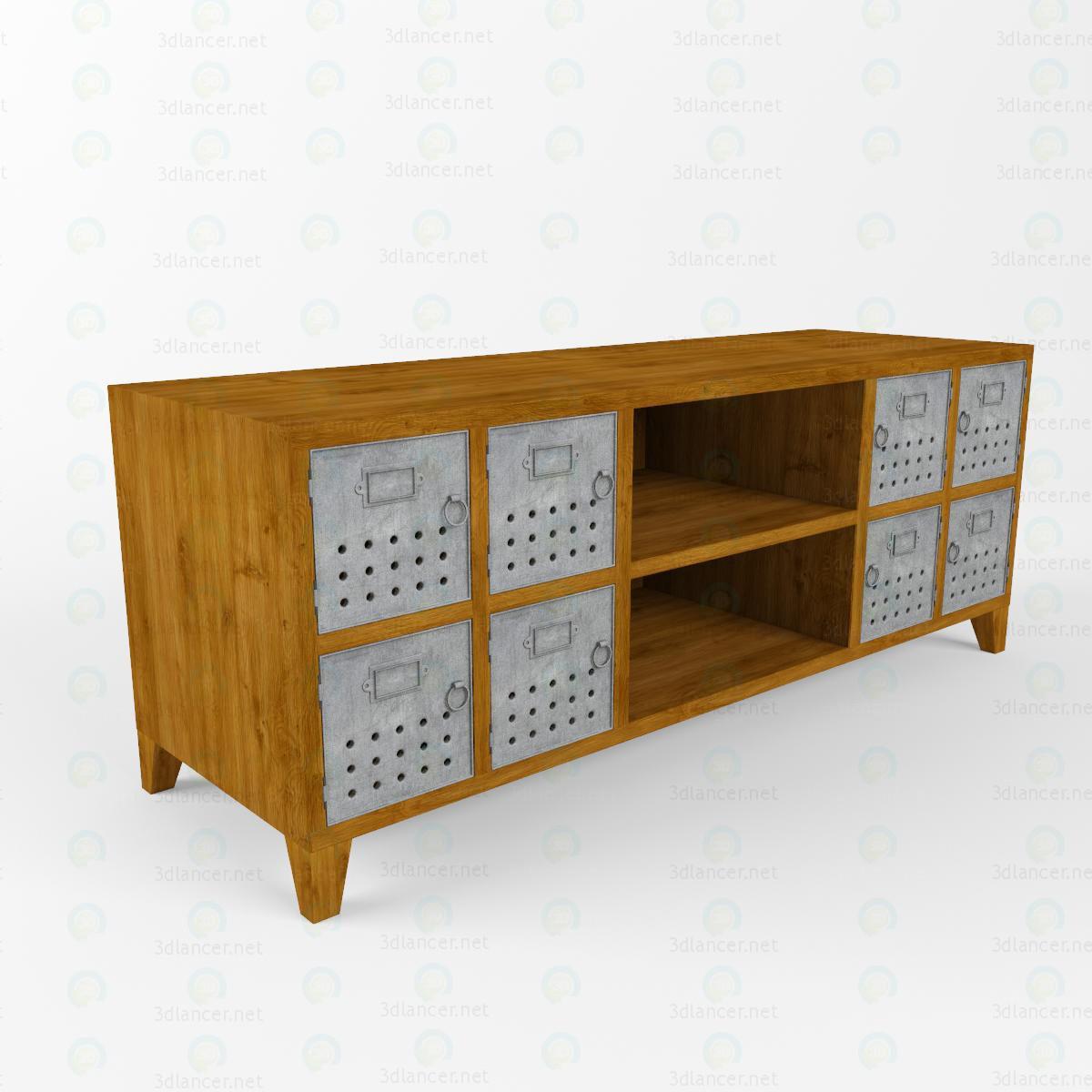 3d modeling TV Stand loft model free download