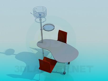 3d modeling Kitchen Table model free download