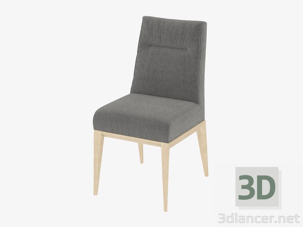 3d modella sedia tosca con tappezzeria scura dal for Tappezzeria 3d