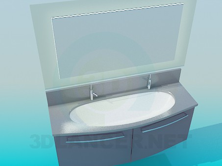 3d model Washbasin - preview
