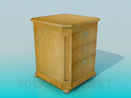 3d modeling Cabinet with drawers model free download