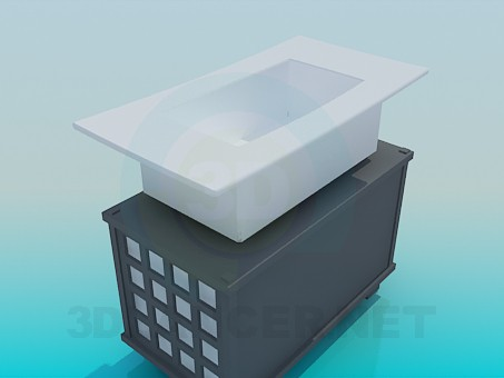 3d model The stylish wash basin - preview