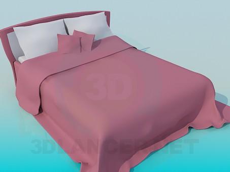 modelo 3D Cama de matrimonio - escuchar