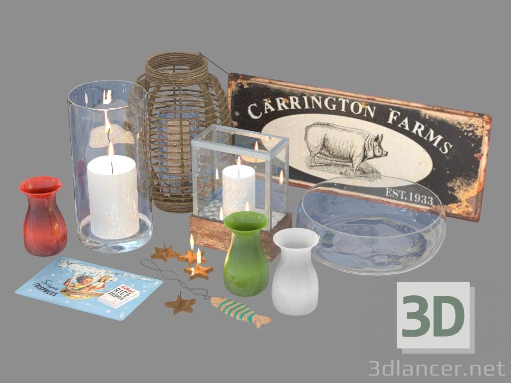 3d model Set of decor - preview