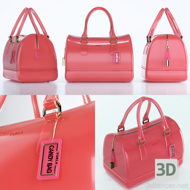 3d model Furla Candy Bauletto Bag, max(2013), obj, fbx