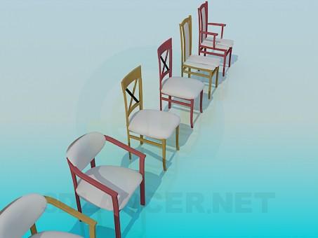 3d моделирование Различные стулья модель скачать бесплатно