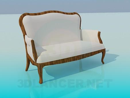 modelo 3D Banco-sofá - escuchar