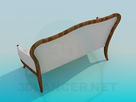 3d модель Скамья-диван – превью