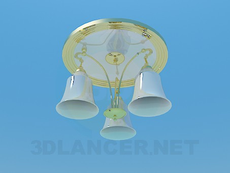 3d model Chandelier with gilding - preview