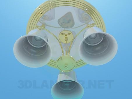 3d модель Люстра с позолотой – превью